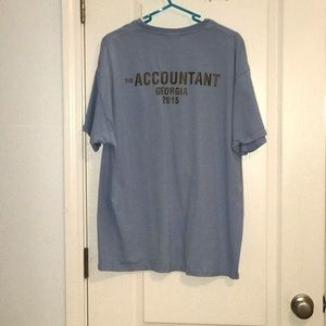 Light blue T-shirt from the movie the accountant